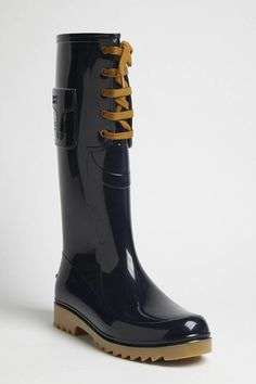 Navy Rain Boot by Chloe #Rain_Boot #Chloe