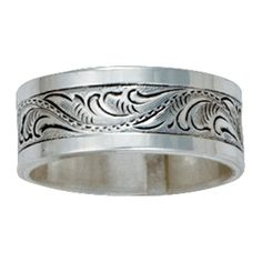 Sterling Silver Classic Engraved Ring
