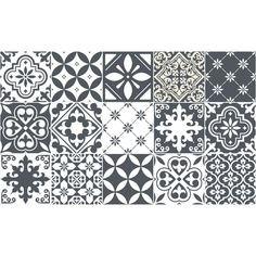 15 stickers carrelages azulejos nuance de gris tendance