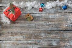 Christmas decorations on a wooden background by JulianPopov2