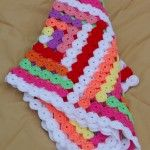 Yo-yo Patchwork Baby Blanket | Inka's Hand Crafts - Premade blanket for sale - $132.99