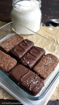 Barre chocolatée à la noix de coco  Vegan, Paleo,Sans gluten