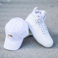 Cop the Nike Lunar Force 1 Duckboot with the hat to match at Jimmy Jazz