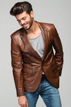 Hakiki Deri Antik Erkek Ceket .035 DEDA | Trendyol