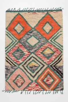 Rug; native american pastel geometric