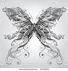 Butterfly in an ornament