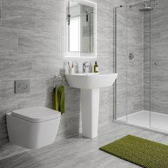Alaska grey marble effect matt wall and floor tile x greymarblebathroom - Bathroom Flooring Small Bathroom Tiles, Rustic Bathroom Vanities, Bathroom Tile Designs, Modern Bathroom Design, Bathroom Interior Design, Bathroom Flooring, Bathroom Wall, Grey Marble Bathroom, Gray Marble