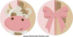 Kit Festa Fazendinha Rosa - pronto para editar e imprimir grátis!