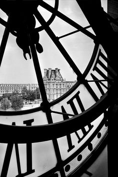 From the Musée d'Orsay in Paris. The Louvre can be seen in the distance. Poses Photo, Black And White Aesthetic, Black And White Pictures, Paris Black And White, Picture Wall, Black And White Photography, Paris France, Cool Pictures, Paris Pictures