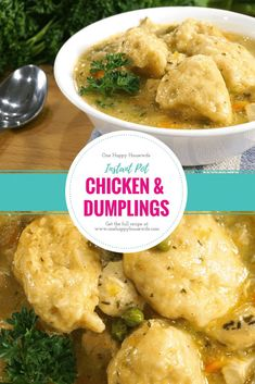 Instant Pot Chicken and Dumplings A super easy and delicious Chicken & Dumplings recipe that's made in the Instant Pot. Fast prep and only a cook time with a NPR. Perfect for busy weeknights! From Valerie @ One Happy Housewife – onehappyhousewife… Instant Pot Pressure Cooker, Pressure Cooker Recipes, Pressure Cooking, Slow Cooker, Pressure Pot, Instant Cooker, Cooking Courses, Cooking Recipes, Cooking Rice