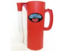 Trouble is ahead at the bachelor party with the Shotgun Beer Mug