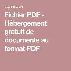 Fichier PDF - Hébergement gratuit de documents au format PDF