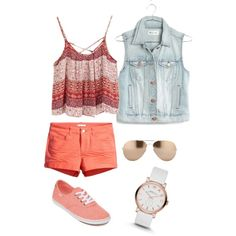 ѕυммєя fυи by troixmac on Polyvore featuring polyvore, fashion, style, Madewell, H&M, Vans, MARC BY MARC JACOBS and Linda Farrow