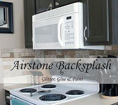 Best DIY Projects For Home Decorating: AirStone Backsplash