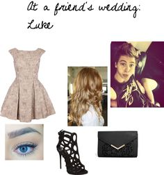 5SOS Outfits Idea | At a friend's wedding: Luke by bethmkcox featuring ASOSPink dress, $ ...