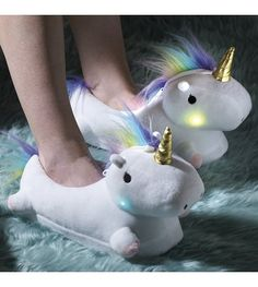 Image for Light Up Unicorn Slippers from studio