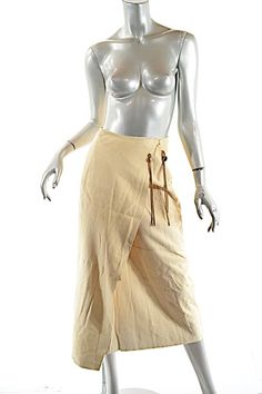 570cb0e486786 Ralph Lauren Beige Country Chamois Suede Mid Calf Western Wrap Skirt Size 8  (M,. Tradesy