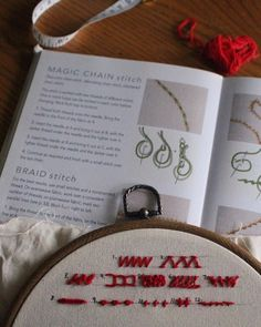 Chain Stitch, Saturday Night, Stitches, Coin Purse, Embroidery, Learning, Sewing, Fabric, Instagram