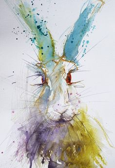 Jen Buckley watercolour hare