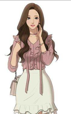The secret of angel (webtoon) Anime Art Girl, Manga Girl, Anime Guys, Anime Outfits, Girl Outfits, Cute Outfits, New Outfits, Beautiful Fantasy Art, Beautiful Anime Girl