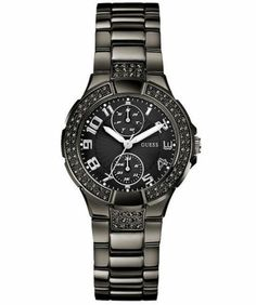 New Authentic Guess Women Black Crystal Watch U13586L3 New with Tag | eBay