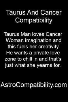Taurus man loves Cancer woman....