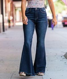 Bootleg Jeans, All Jeans, Women's Jeans, Women's Ankle Jeans, Super Flare Jeans, Petite Flare Jeans, Flare Jeans Outfit, Dressy Pants, Curvy Fit