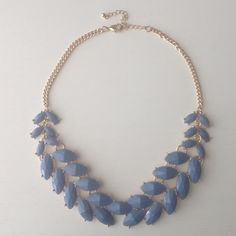 Blue chunky necklace Adorable blue and gold chunky necklace that will complete any outfit. Add it to spice up your attire or wear it as a statement piece. Jewelry Necklaces
