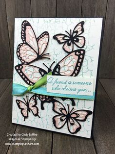 Sale-a-bration Swaps for our February Stamping to Share Demo Meeting - Stamping To Share Butterfly Flowers, Butterflies, Cupcake Card, Crackle Painting, Appreciation Cards, Bee Cards, Alcohol Markers, Friendship Cards, Sympathy Cards