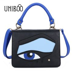30.00$  Watch here  - Novelty brand designer color block eye tote handbag female fashion summer funny single shouler bag brief messenger crossbody bag