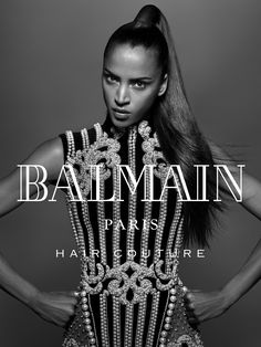 Noemie Lenoir wears sleek ponytail in Balmain Hair fall-winter 2016 campaign Best Beauty Tips, Beauty Hacks, Fashion Mode, Fashion Beauty, Sleek Back Hair, Dark Skin Models, Christophe Decarnin, Balmain Hair, Editorial