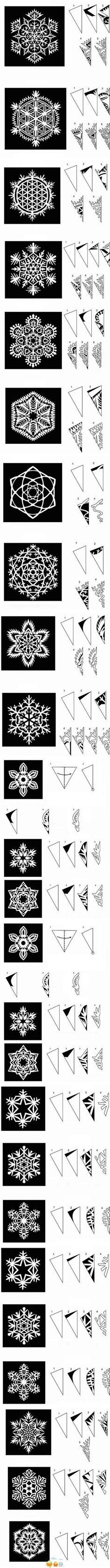 various snowflake patterns