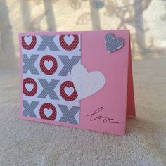 Hand-stamped and homemade pink and white embellished by knitnifty