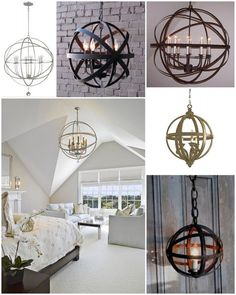 Diy orb chandelier orb chandelier chandeliers and lights love these ideas for a diy chandeliernd of industrial meets aloadofball Choice Image