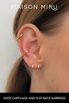 Tragus jewelry non pierced earring large tragus earrings cool single earrings cartilage earrings alternative earrings unusual earrings