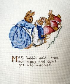 Beatrix Potter Books | Beatrix Potter embroidery Peter Rabbit Completed by jarg0n