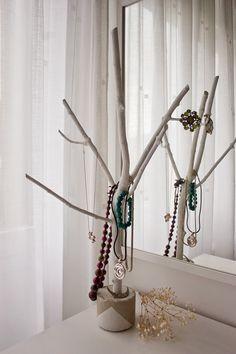 Diy joyero con rama de árbol6