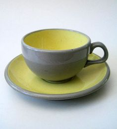 1950s Harkerware cup and saucer by Kultur on Etsy, $14.00
