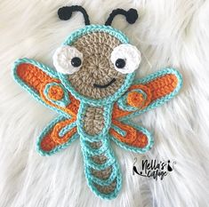 PURCHASED Crochet Pattern - Dragonfly Pattern - BEGINNER to intermediate levels ~ about tall with hook ~ written instructions & photo tutorials ~ on Etsy by Nellas Cottage Crochet Puff Flower, Love Crochet, Crochet Gifts, Beautiful Crochet, Crochet Flowers, Easy Crochet, Crochet Applique Patterns Free, Crochet Flower Patterns, Crochet Dragonfly Pattern