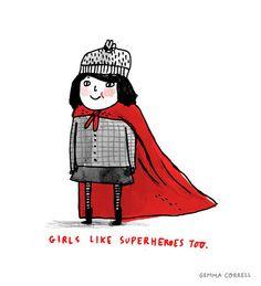 girls like superheroes too by gemma correll