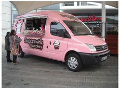 Home Bakery Business, Baking Business, Mobile Shop Design, Ice Cream Business, Bike Food, Food Vans, Bedroom Crafts, Retro Caravan, Ice Cream Van