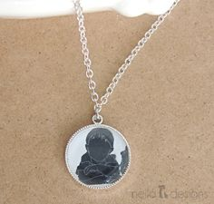 Silhouette Necklace Charm ©nella designs