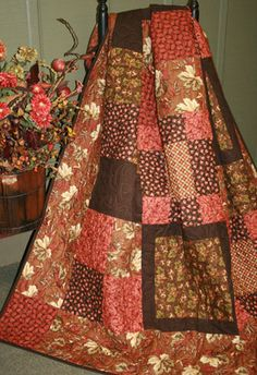 Autumn Cozy - this really does look cozy, love the colours! (Have a quilt in almost these identical colors--will be pulling it out for fall; never thought about it!)