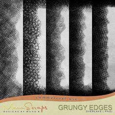 CU Grungy Edge Overlays | CU/Commercial Use #digital #scrapbook design tools at CUDigitals.com #digitalscrapbooking