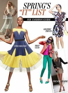 "300723f2895e Most Wanted: Our Spring ""It"" List Fashion Guide is the perfect place to.  Blue And Yellow DressFashion ..."