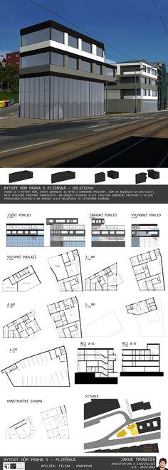Studentský projekt. LS 2013/2014. FSv ČVUT v Praze. Praha, Ideas Para, Presentation, Floor Plans, Board, Floor Plan Drawing, Planks, House Floor Plans