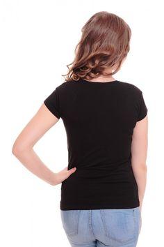 Футболка А6050 Размеры: 42-48 Цвет: черный Цена: 375 руб.  http://optom24.ru/futbolka-a6050/  #одежда #женщинам #футболки #оптом24