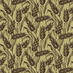 General's Wives Civil War Quilt Fabric Brown Wheat On Tan by Windham Fabric Last Yard Out Of Print High Quality Cotton