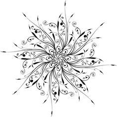 Snowflake Tattoo | Freebie circular designs 1300.1300