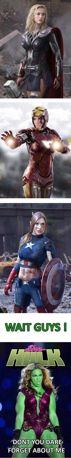 Avengers - rule 63 (Amber Heard, Sandra Bullock, Alison Brie and Beyoncé)